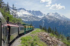 a scenic rail vacation in Alaska